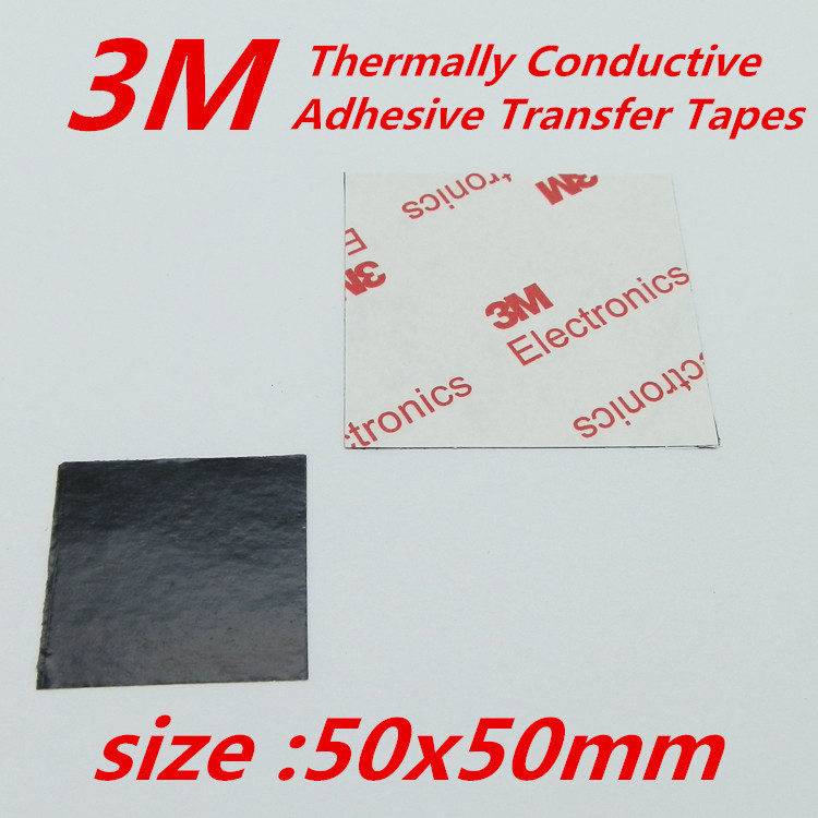 30pcs/lot  3M 50x50mm Thermally Conductive Adhesive Transfer Tapes thermal pad double sided tape for heatsink  radiator<br><br>Aliexpress