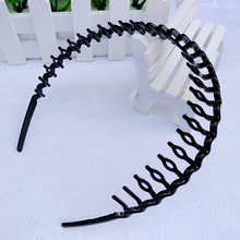 TKOH 1Pcs Mens Women Unisex Black Hair Accessories Head Hoop Band Headband Hairband Hairpins Styling Tools(China)