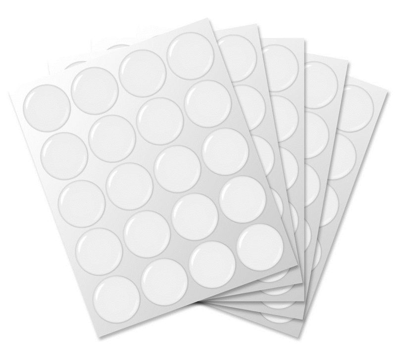 High Quality 3D 20Pcs 1 inch / 25x1.5mm Round Clear Epoxy Resin Patch Dots For Bottle Caps Crafting DIY(China)