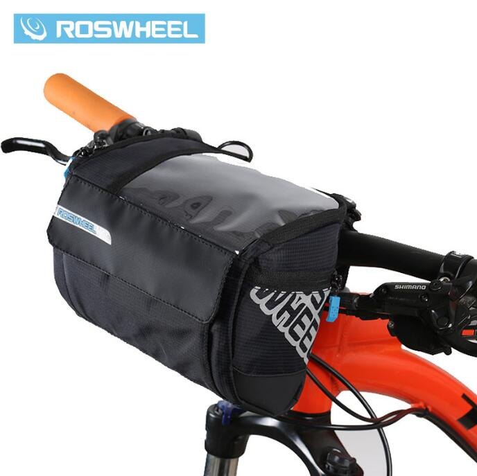 ROSWHEEL 3L Bicycle Handlebar Bag MTB Road Bike Cycling Front bar Pannier Frame Pouch Map bags Bycicle Bolsa Bicicleta 111271