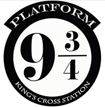 HARRY POTTER PLATFORM 9 3/4 KINGS CROSS CUT VINYL WALL ART STICKER / DECAL
