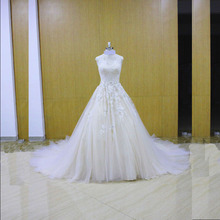 New Design Deep V -neck Real Sample Ball Gown Wedding Dress Wedding Dresses Vestidos Robe De Mariage Vestido De Noiva(China)