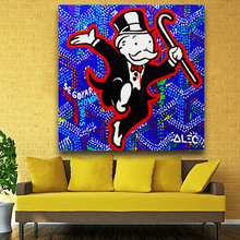 Alec monopoly wall street art canvas print POP ART Giclee poster print on canvas for wall painting graffiti artists