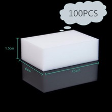 Worldwide Store 100pcs 100 x 60 x 20mm Magic Sponge Cleaner Super Decontamination Eraser 2016