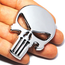 Cool 3D Skull Metal Skeleton Car Motorcycle Sticker Label Skull Emblem Badge Motorcycle Car Styling Stickers Decal Accessories(China)