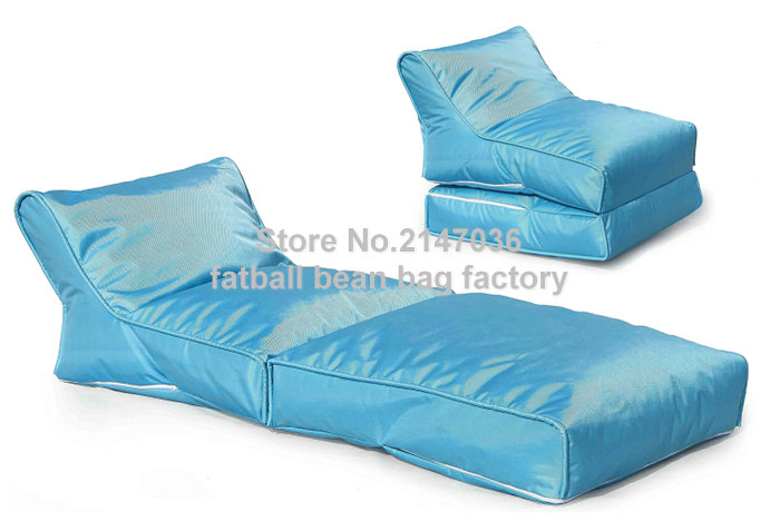 Image Blue portable bean bag chair, folding outdoor beanbag hammock, Good quality bean furniture sofas set   waterproof