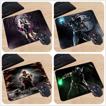 Babaite Hot Sales A Series Figures Mortal Kombat Custom Made Silicon Mouse Pad  Your Own Style Amazing Black Fashion Mice Mats