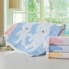 Organic Cotton Cartoon Rabbit Hand Towels On Sale Personalized Patterned Dobby Designer Towel For Face Hair