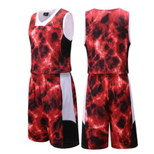 High quality 2017 college basketball jersey set quick dry sport men team basketball training jersey kits boys basketball uniform(China)
