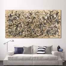 HDARTISAN Modern Oil Painting Jackson Pollock Abstract Canvas Art Autumn Rhythm Wall Pictures For Living Room Home Decor Printed