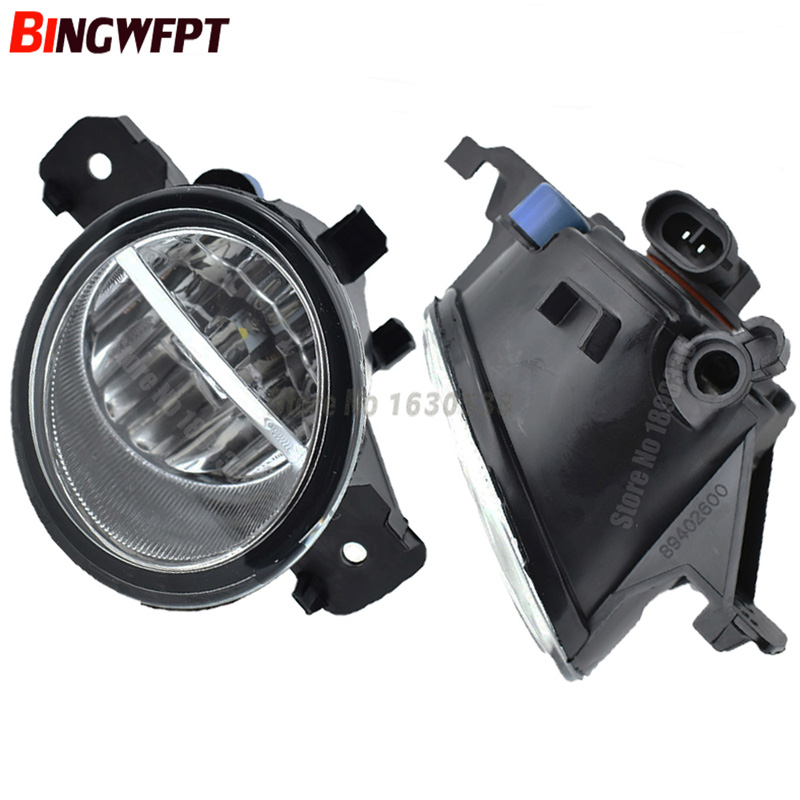 2PCS H11 12V LED / Halogen Fog LIGHT Lights drl Refit For NISSAN QASHQAI / QASHQAI +2 (J10, JJ10) 2007-2012