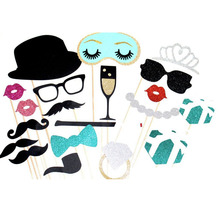 20 pcs/set Photo Booth Props for Wedding Birthday Party Decoration 2016 New Design DIY Kits Photobooth Dress-up Accessories