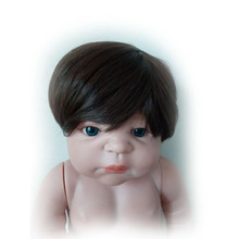 Cool Brown or Gold Doll Wigs For 23 inch Reborn Baby Dolls High Temperature Wire Lifelike Hair Girl and Boy Doll Accessories(China)