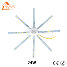 24W LED Ceiling Lamp Modified Light Source Lamp Plate Octopus 5730SMD White for Round Kitchen Bedroom(China)