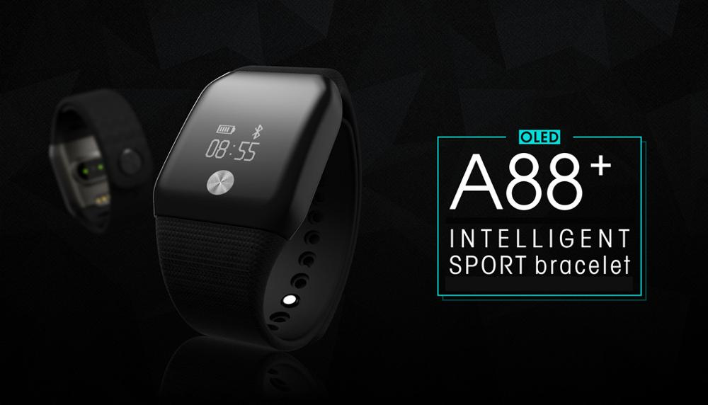 A100 Smart Bracelet Sport Pedometer SmartBand Heart Rate Fitness Watch Blood Oxygen Pressure Monitor Wristband For iOS Android 1