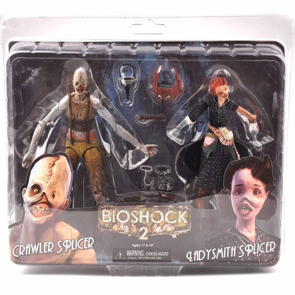 7 Inches Bioshock Ladysmith and Crawler Action Figures Model 2 Figure Dolls Collection<br>