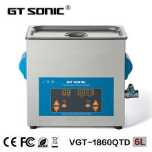 GT SONIC Portable Tattoo instruments ultrasonic cleaner with heating 6L China supplier VGT-1860QTD(China)
