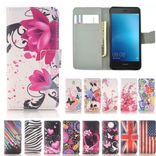 Butterfly Flower Leather Wallet Flip Case Soft Cover For Huawei Y5 Y6 II Compact mini Y5II Y6II 2 Russian Honor 5A LYO-L21 5inch