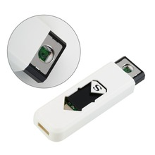 White USB Electronic Rechargeable Battery Flameless Cigar Cigarette Lighter Worldwide store