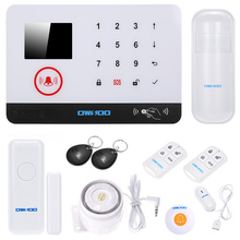 OWSOO Wireless Alarm Security System 433MHz LCD Display Wired Siren Kit Water Sensor RFID Card Intruder Security Alarm System(China)