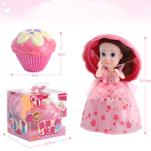 Surprise Cupcake Princess Doll Deformation Dolls Girl Beautiful Cute Toy Birthday Present More Than Three Years Old 9.7 * 16 cm(China)