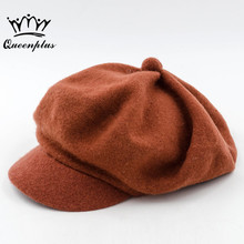 2017 Autumn Winter Women's Fashion 100% Wool Cute Ladies Hats Vintage Trendy Derby Bowler Top Fedora Hat Cap for Woman Bucket(China)