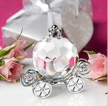 Free Shipping 50pcs/lot Crystal Cinderella Pumpkin Coach Favor Wedding decoration favors Crystal Gifts