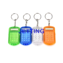 JETTING New Hard Plastic Casing 8 Digits Electronic Mini Calculator w Keychain Drop Shipping(China)