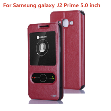 J2 Prime Case j532f for Samsung Galaxy j2 Prime G532 phone case 5.0 inch Case luxury PU Leather Window Flip Cover Case