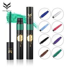 Huamianli Colorful Eyelash Mascara Green White Purple Blue Red Eye Lash Long Lasting Waterproof Liquid Mascara T25(China)