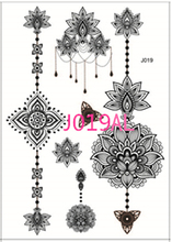 2017 Sale Real Indian Arabic White Henna Tattoo Paste Lace Designs Wedding Bride Choker Water Transfer Tattoos Sticker Trendy