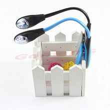 A96 Nice Mini Flexible Clip-on Bright Booklight LED Travel Book Reading Lamp White Light