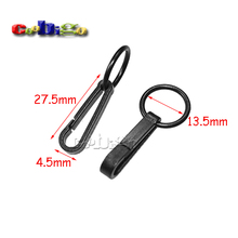 25pcs Pack Plastic Black Gloves Hook Buckles Snap Hook With O-Ring Link Chain Craft Bag Parts Accessory #FLC078-B
