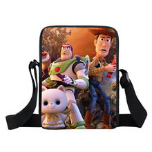 Kids Mini Cute Crossbody Bag Cellphone Wallet Purse Snack Bag Toystory pattern Small Message Bag for Teenagers girls boys(China)