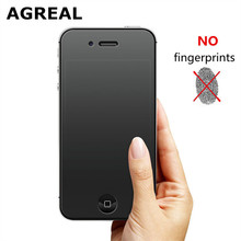 AGREAL No Fingerprint Premium Tempered Glass Screen Protector For iphone 4s Frosted Glass Protective Film For iPhone 4 matte()
