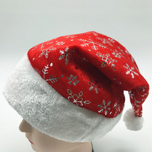1PC Knitted Hats Hat Printed with snowflakes Christmas hat Winter Beanie Cap Casual Cotton Caps Christmas Gift santa claus hat(China)