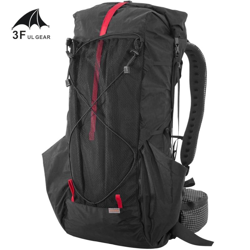 35L-45L Lightweight Durable Travel Camping Hiking Backpack Outdoor Ultralight Frameless Packs XPAC & Dyneema 3F UL GEAR1