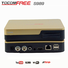Satellite decoder Tocomfree S989  work  cccam newcam  IPTV WIFI conversor digital de tv Nagra 3  better than tocomsat  S989