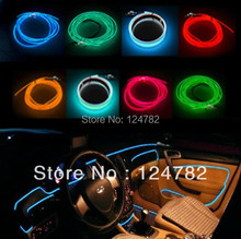 1Set Ca Styling 5m 12V car atmosphere decorative lamp \ EL car interior strip light cold lamp with driver