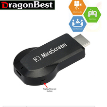 MiraScreen OTA TV Stick Dongle  Wi-Fi Display Receiver AM8252 DDR3 128MB DLNA Airplay Miracast Airmirroring  TOP 1 Chromecast