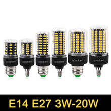 E27 LED Lamp E14 SMD5736 LED Bulb AC 85V-265V LED Corn Light 3.5W 5W 7W 9W 12W 15W 20W LED Bulb No Flicker Chandelier Light(China)