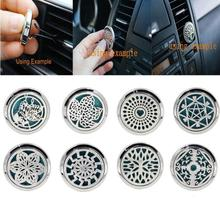 10 Patterns Perfume folder Stainless Car Air Vent Freshener Essential Oil Diffuser Locket Pasta de perfume Carpeta perfume stars
