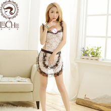 Buy Q732 New uniform temptation Sexy lingerie embroidery floral maid sexy pajama erotic underwear cosplay sexy lenceria porn costume