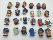 50pcs/lot Baseball Football Player Model Toy 2.5cm Kids Toy Model Figures Hobby Collectible Mix Random Sending(China)