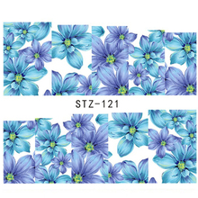 1sheet Nail Art Stickers Beauty Flowers Watermark Nail Decals Foil Polish Manicure Wraps Decoration DIY Manicure Tools LASTZ121