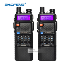 2pcs Walkie Talkie BaoFeng UV-5R CB Ham Radios 3800 Battery Dual Band UHF VHF Portable Walkie Talkie Set Amateur Radio Station(China)