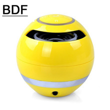 BDF Portable Mini Bluetooth Speaker ball Wireless column Handfree TF FM Radio with Mic MP3 globe audio Music receiver for phone(China)