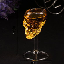 Transparent Bones Warrior Skull Head For Whiskey Wine Vodka Glass Goblet Cup Barware Home Drinking Ware(China)