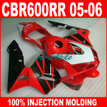 ABS plastic Injection motorcycle parts for HONDA CBR 600RR 2005 2006 CBR600RR fairings 05 06 red black body repair fairing kits