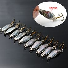 TOMA 10pcs/lot 2016 brand fishing bait spoon lure silver 40mm 5.2g fishing metal lures spinner hard lure free shipping(China)